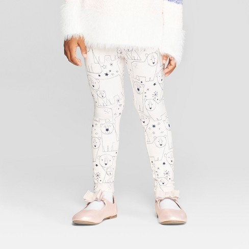 Toddler Girls' 'Blush Bears' Leggings - Cat & Jack™ Light Pink - image 1 of 3