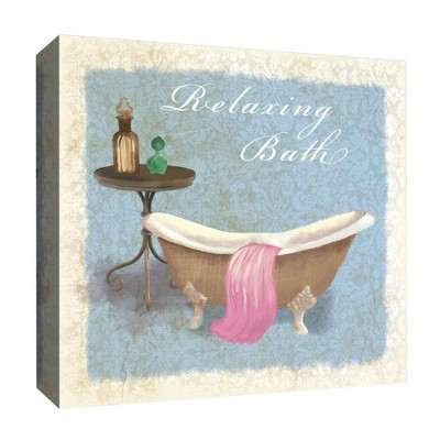 """16"""" x 16"""" Relaxing Bath Decorative Wall Art - PTM Images"""