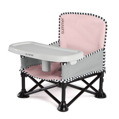 Summer Infant Pop 'n Sit Sweet Life Edition Booster Travel Booster and Chair - Bubble Gum
