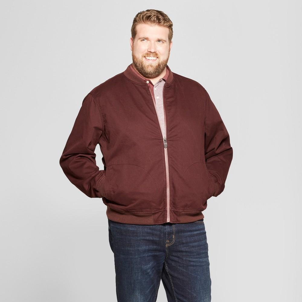 Men's Big & Tall Workwear Bomber - Goodfellow & Co Black Raspberry 2XB