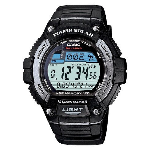 Casio Men's Solar Multi-Function Runners Watch - Black (WS220-1A) - image 1 of 1