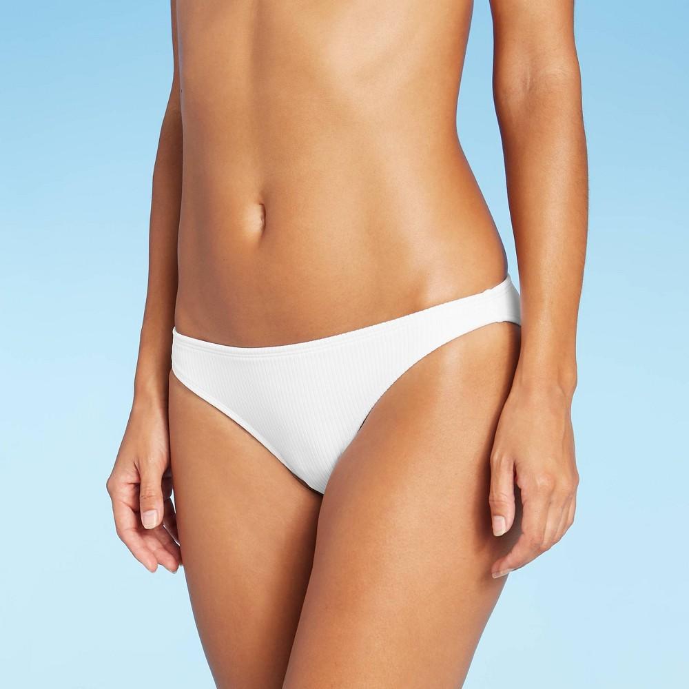 Juniors 39 Ribbed Cheeky Hipster Bikini Bottom Xhilaration 8482 White Xl