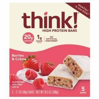 think! High Protein Berries & Cream Bars - 5ct