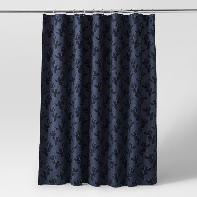 Leaf Woven Shower Curtain Navy - Project 62™