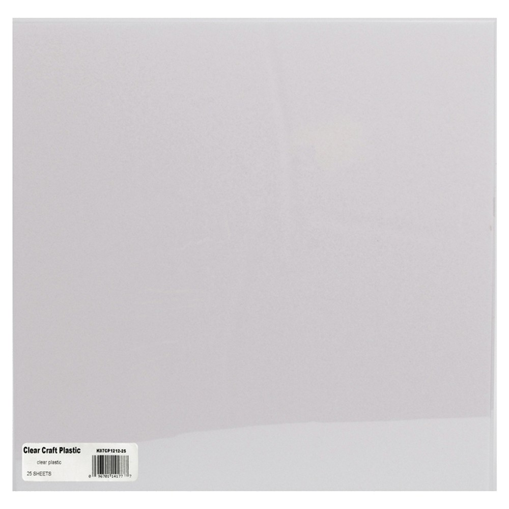 Craft Plastic Sheets - Clear, Multi-Colored