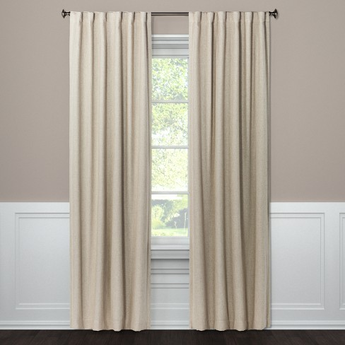 "Blackout Curtain Panel Aruba Brown Linen 108"" - Threshold™ - image 1 of 2"