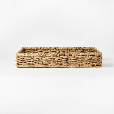 """17"""" x 6"""" Chunky Woven Tray Basket Natural - Threshold™ designed with Studio McGee - image 1 of 4"""