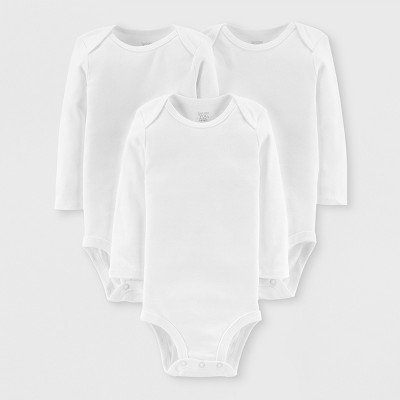Baby 3pk Bodysuits - Just One You® made by carter's White Preemie