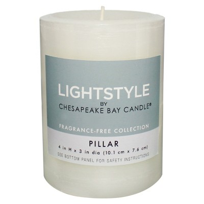 Fragrance Free - White - 3 x4  - Chesapeake Bay Candle