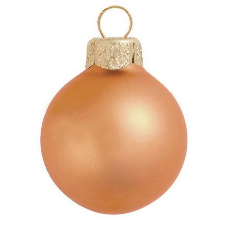 "Northlight 6ct Matte Glass Ball Christmas Ornament Set 4"" - Burnt Orange - image 1 of 1"