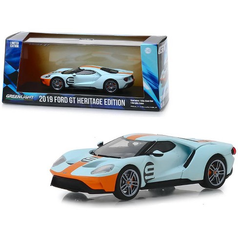 """2019 Ford GT #9 Heritage Edition """"Gulf Oil"""" Color Scheme 1/43 Diecast Model Car by Greenlight - image 1 of 3"""