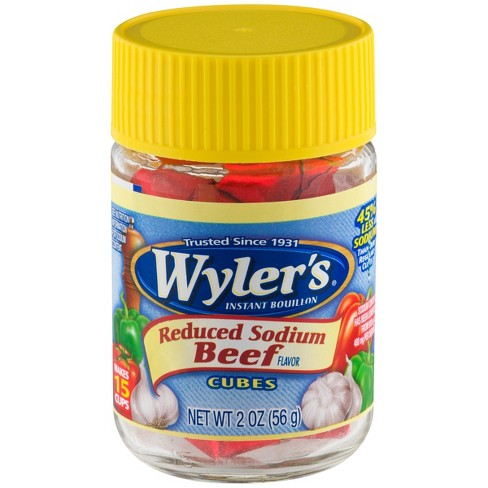 Wylers Reduced Sodium Beef Bouillon 2 oz - image 1 of 3