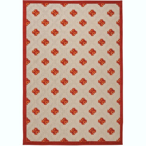Nourison Aloha ALH02 Red Indoor/Outdoor Area Rug - image 1 of 4
