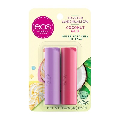 eos Lip Balm Sticks - Toasted Marshmallow and Coconut Milk - 2ct/0.14oz each