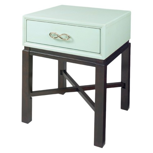 Spencer End Table Chairside- Celadon Blue, Espresso - Progressive Furniture - image 1 of 1