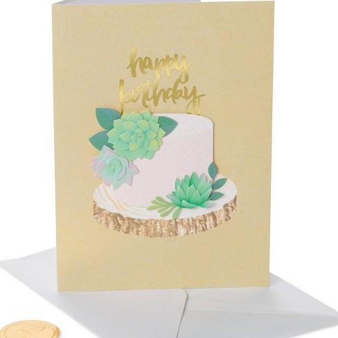 Amazing Succulent Cake Print Birthday Card Papyrus Target Funny Birthday Cards Online Benoljebrpdamsfinfo