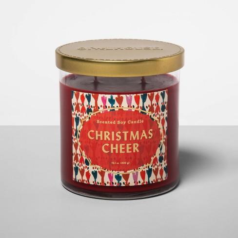 15.1oz Lidded Glass Jar 2-Wick Candle Christmas Cheer - Opalhouse™ - image 1 of 2