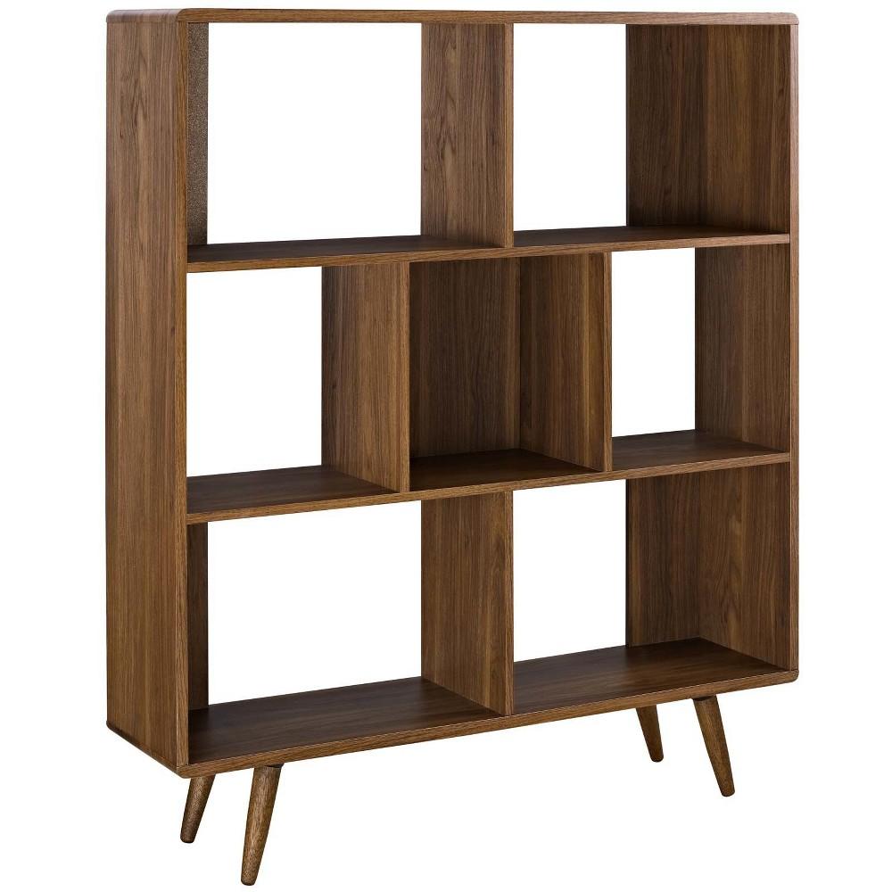 52 Realm Bookcase Walnut (Brown) - Modway