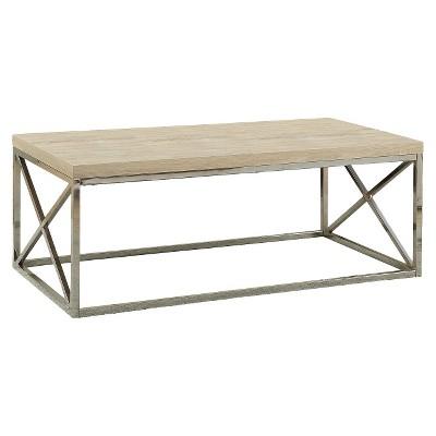Metal Coffee Table - Silver - EveryRoom