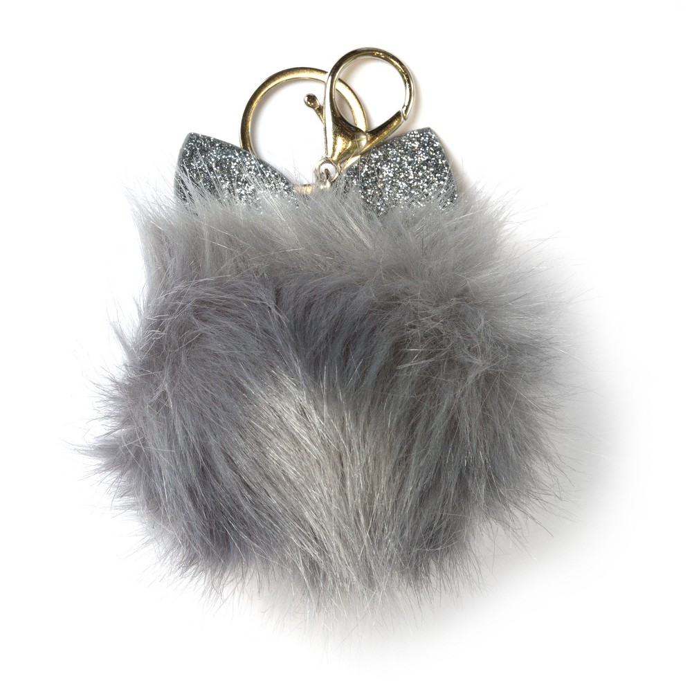 Character Pom Poms - Gray, Multi-Colored