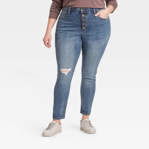 Women's Plus Size High-Rise Skinny Jeans - Ava & Viv™ - image 1 of 3