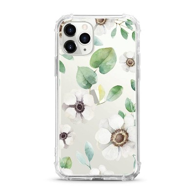 OTM Essentials Apple iPhone 11 Pro Clear Case - Anemone Flowers White