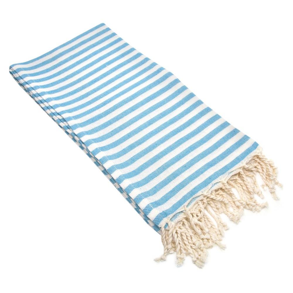 Fun in the Sun Pestemal Beach Towel Turquoise