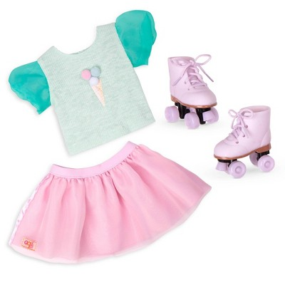 """Our Generation Ice Cream Outfit with Roller Skates for 18"""" Dolls - Scoopalicious"""