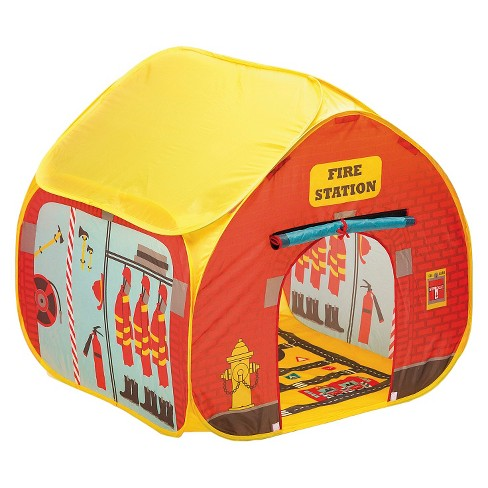 Fun2Give Pop-it-Up® Firestation Tent with Streetmap Playmat - image 1 of 3