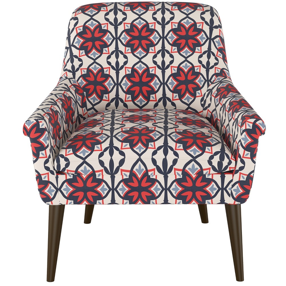 Rodovre Arm Chair Geo Print Blue - Project 62