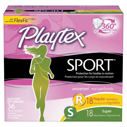 Playtex Sport Unscented Tampon Multipack - 36ct - image 1 of 3