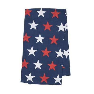 C&F Home Americana Liberty Stars Kitchen Patriotic Red White Blue American 4th of July Memorial Labor Day Decorative Towel
