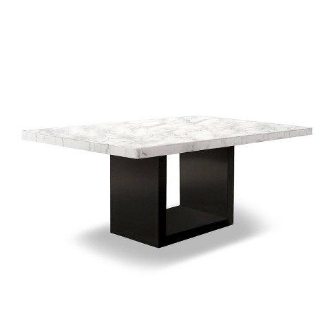 70 Southwind Rectangle Dining Table White Black Homes Inside Out Target