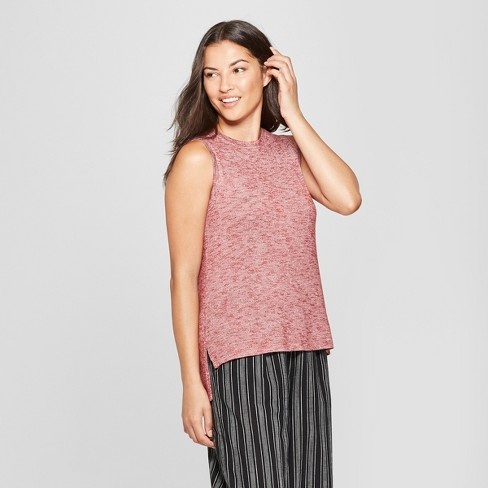 Women's Relaxed Fit Tank - A New Day™ Burgundy XXL - image 1 of 3