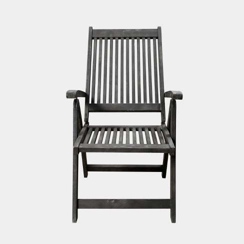 Renaissance Outdoor Patio Hand-Scraped Wood 5-Position Reclining Chair - image 1 of 4