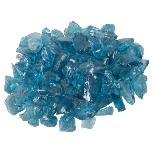 Blue Tempered Glass Rocks - 10 lbs - Pleasant Hearth - image 1 of 3