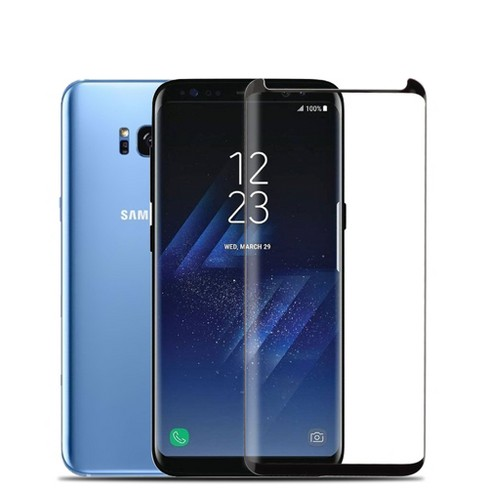 Valor Clear Tempered Glass Lcd Screen Protector Film Cover For Samsung Galaxy S8 Plus Black Target