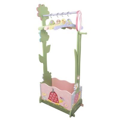 Magic Garden Fantasy Fields Dress Up Valet Rack with 4 Hangers - Teamson Kids