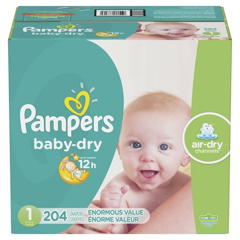 Pampers Baby Dry Disposable Diapers Enormous Pack - image 1 of 4