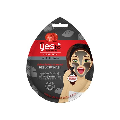 Yes To Tomatoes Detoxifying Charcoal Peel Off Mask Single Use Facial Treatment - .33 fl oz - image 1 of 2