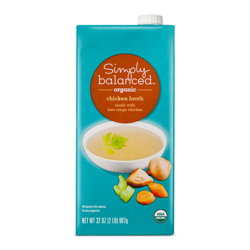 Organic Chicken Broth 32 oz - Simply Balanced