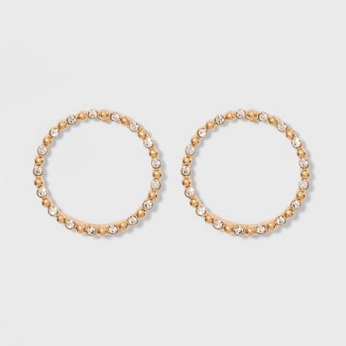 Sugarfix By Baublebar Delicate Crystal Hoop Earrings Gold