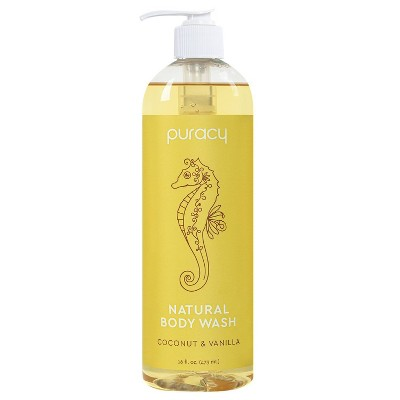 Puracy Coconut & Vanilla Natural Body Wash Shower Gel - 16 fl oz