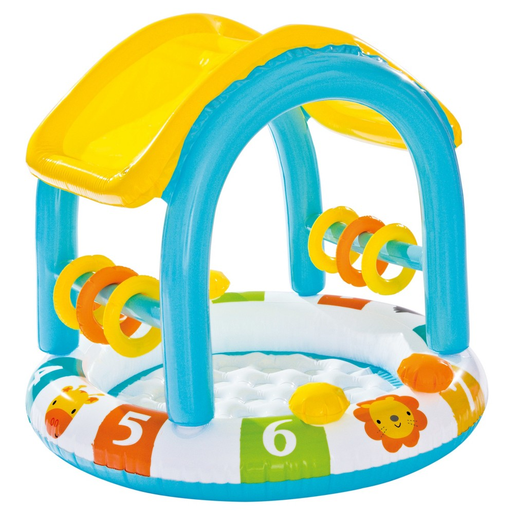 Intex Inflatable Count With Me Shaded Baby Pool, Multi-Colored