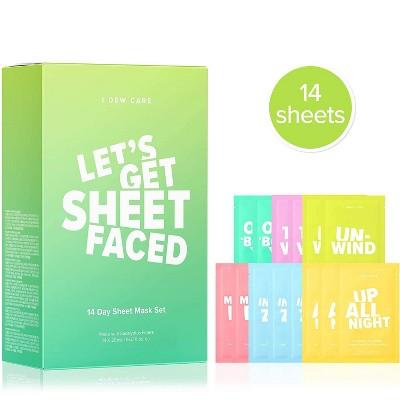 I DEW CARE Let's Get Sheet Faced Skincare Set - 14ct