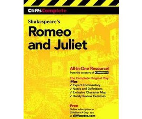 Cliffscomplete Romeo and Juliet (Paperback) - image 1 of 1