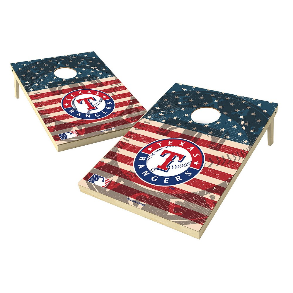 MLB Wild Sports Texas Rangers 2x3 Tailgate Toss Cornhole Shield - Stars and Stripes