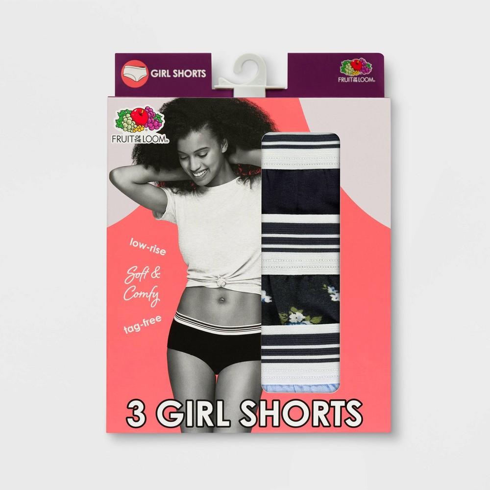 Fruit of the Loom Women's 3pk Modal Girl Shorts - 6, Multicolored