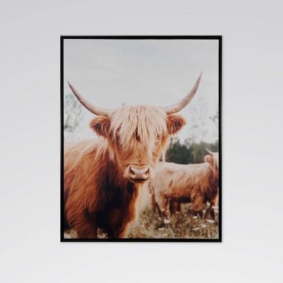 "22.8"" x 28.8"" Dartmoor Herd Framed Printed Canvas Wall Art - Threshold™"