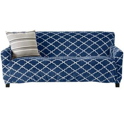 Great Bay Home Printed Stretch Fit Velvet Sofa Slipcover